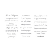Teeny Tiny Sentiments Clear-Mount Stamp Set