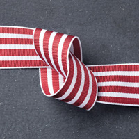 "Cherry Cobbler 1-1/4"" Striped Grosgrain Ribbon by Stampin' Up!"