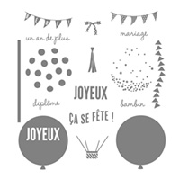 Fêtes toutes faites Photopolymer Stamp Set (French) by Stampin' Up!