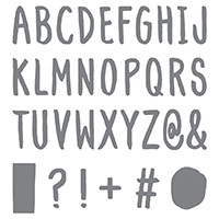 Layered Letters Alphabet Photopolymer Stamp