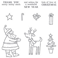 Santa's Gifts Photopolymer Stamp Set by Stampin' Up!