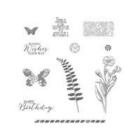 Butterfly Basics Wood Stamp Set-Mount