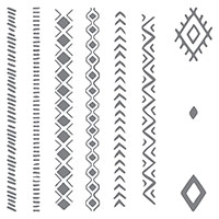 Bohemian Borders Photopolymer Stamp Set