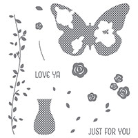 Floral Wings Photopolymer Stamp Set