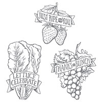 Market Fresh Clear-Mount Stamp Set by Stampin' Up!