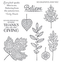 Lighthearted Leaves Photopolymer Stamp Set by Stampin' Up!