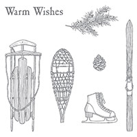 Winter Wishes Clear-Mount Stamp Set by Stampin' Up!