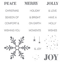 Holly Jolly Greetings Clear-Mount Stamp Set