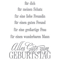 Geburtstagsgrüße für alle Clear-Mount Stamp Set (German) by Stampin' Up!