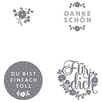 Einfach toll Clear-Mount Stamp Set (German) by Stampin' Up!