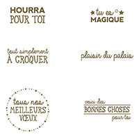 Plaisir du palais Clear-Mount Stamp Set (French) by Stampin' Up!