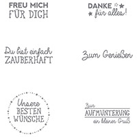 Ein kleiner Gruß Clear-Mount Stamp Set (German) by Stampin' Up!