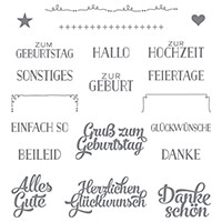 Grußelemente Photopolymer Stamp Set (German) by Stampin' Up!