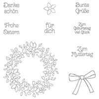 Frühlingsreigen Photopolymer Stamp Set (German) by Stampin' Up!