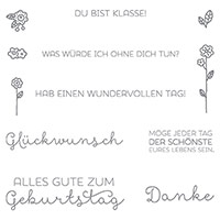 Landlust Clear-Mount Stamp Set (German) by Stampin' Up!