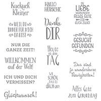 Erfreuliche Ereignisse Clear-Mount Stamp Set (German)