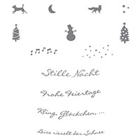 Kling, Glöckchen … Clear-Mount Stamp Set (German) by Stampin' Up!