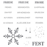 Winterliche Weihnachtsgrüße Clear-Mount Stamp Set (German) by Stampin' Up!