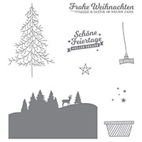 Schöne Feiertage Photopolymer Stamp Set (German) by Stampin' Up!