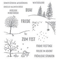 Fröhliche Stunden Photopolymer Stamp Set (German) by Stampin' Up!