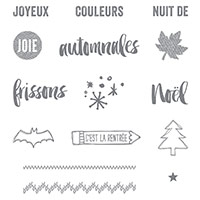 Project Life Instantané de saison 2015 Photopolymer Stamp Set (French) by Stampin' Up!
