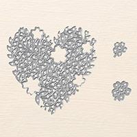 Poinçons Thinlits Cœur en éclosion