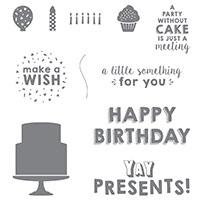 Party Wishes Wood-Mount Stamp Set by Stampin' Up!