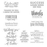 Suite Sayings Clear-Mount Stamp Set