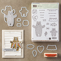 Bear Hugs Wood-Mount Bundle by Stampin' Up!