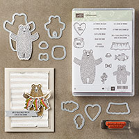 Câlinourson Clear-Mount Bundle (French) by Stampin' Up!