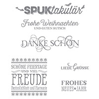 Feiertagsgrüße Clear-Mount Stamp Set (German) by Stampin' Up!