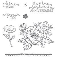 Set de Tampons Caoutchouc Fleurs d'anniversaire