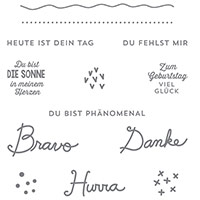 Sonnengruß Clear-Mount Stamp Set (German) by Stampin' Up!