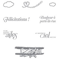Dans les nuages Clear-Mount Stamp Set (French)