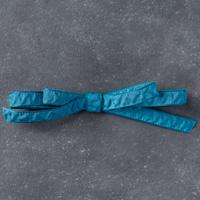 "Dapper Denim 3/8"" (1 Cm) Ruched Ribbon"