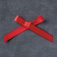 Ruban de satin rouge rouge