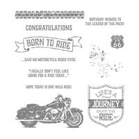 One Wild Ride Wood-Mount Stamp Set