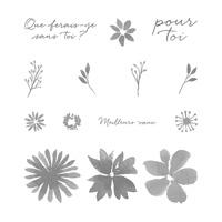 Set de tampons résine Fleurs et souhaits