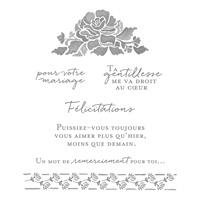 Pensées florales Clear-Mount Stamp Set (French)
