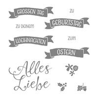 Grüße rund ums Jahr Photopolymer Stamp Set (German)