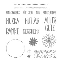 Perfekt verpackt Photopolymer stamp Set (German)