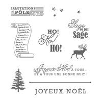 Set de tampons Transparent Vœux du père Noël