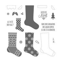 Set de tampons résine Bas de Noël