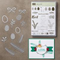 Bundle Set de Tampons Sapins de Noël et Thinlits Branches et pommes de pins