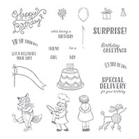 Birthday Delivery Photopolymer Stamp Set