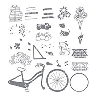 Bike Ride Photopolymer Stamp Set