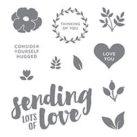 Lots Of Love Wood-Mount Stamp Set