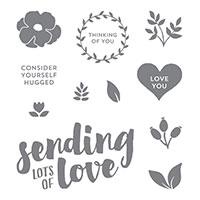 Lots Of Love Wood-Mount Stamp Set