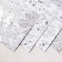 Papier de la série design coloriez moi