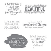 Just Add Text Wood-Mount Stamp Set